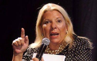 Carrió pide tres diputados nacionales y un tercio de las listas bonaerenses