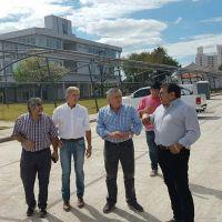 El Intendente visitó la obra del nuevo edificio del HCD de la Capital