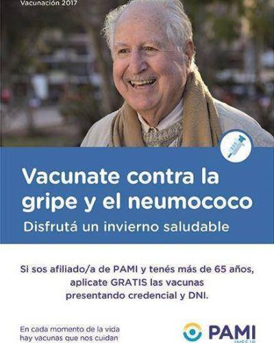 PAMI: Comenzó la campaña de vacunación contra la gripe y la neumonía