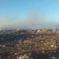 Otra vez fuego y humo en el Basural Municipal