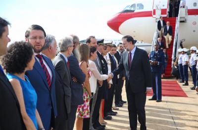 Mariano Rajoy llegó a Brasil para impulsar las negociaciones entre el Mercosur y la Unión Europea
