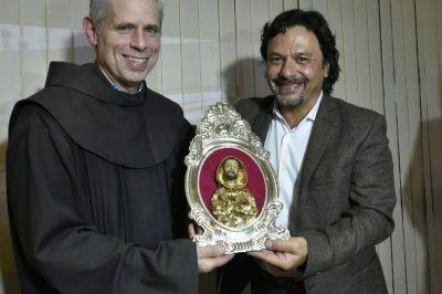 Sáenz recibió al ministro general de la Orden Franciscana