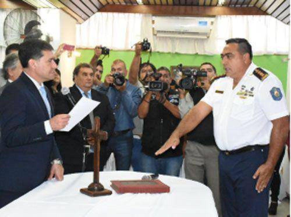 Casas encabezó la asunción de nuevas autoridades policiales