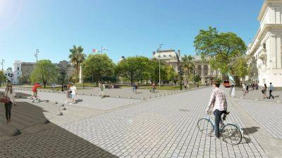 Lifschitz y Corral presentan la remodelación de Plaza 25 de Mayo