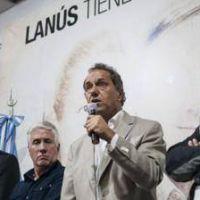 En Lanús, Scioli, Ferraresi y Díaz Pérez pidieron la unidad del peronismo
