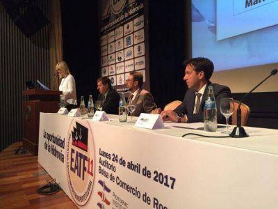 Arturo Rojas en el Encuentro Nacional del Transporte Fluvial