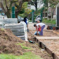 Avanza la construcción de veredas