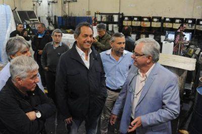 Empresarios pymes le expresaron su desesperación a Scioli: