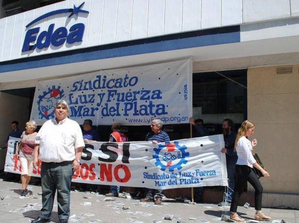 Nuevo paro y movilización de los trabajadores de Luz y Fuerza en EDEA S.A.