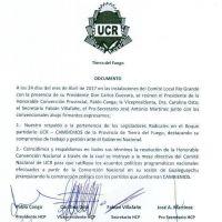 Miembros de la Convención Provincial de la UCR respaldó la resolución del Comité Nacional que ratificó el acuerdo político y la integración de la UCR a la alianza Cambiemos