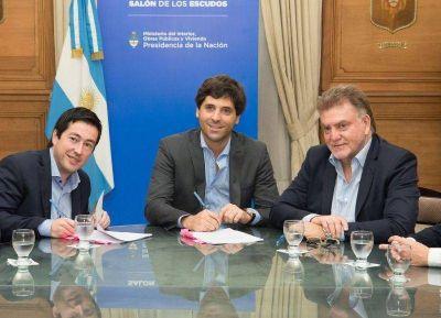 Nardini firmó con Nación convenio por obras para dos barrios de Tortuguitas