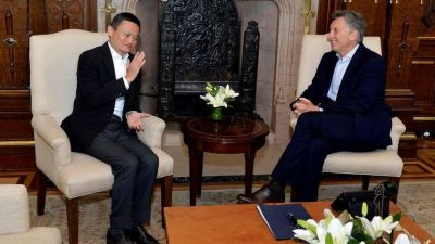 Mauricio Macri se reunió con Jack Ma y acordaron que vinos, carne y mariscos argentinos se vendan en Alibaba