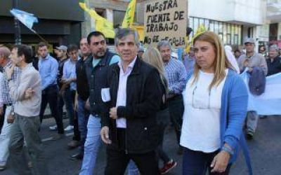Britos respaldó a trabajadores de SanCor que protestaron en Chivilcoy