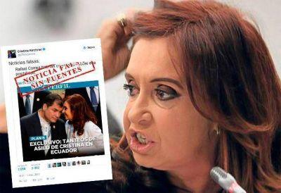 Cristina le respondió a Perfil y negó que busque asilo en Ecuador