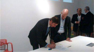 Luciani y Larreta firmaron un convenio de cooperación