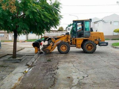 El municipio trabaja sobre las zonas afectadas por el temporal