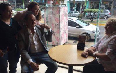 Sin hablar del escándalo, Scioli continuó con su recorrida