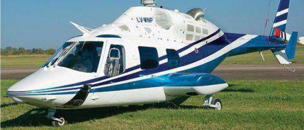 Para hacer campaña bonaerense, De Vido gastó en helicópteros unos US$ 250 mil