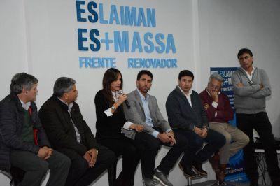 Eslaiman inauguró un nuevo local en San Martín junto a Malena Galmarini