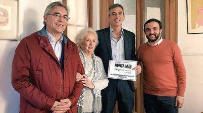 Estela de Carlotto se reunió con Florencio Randazzo en un encuentro organizado por el Movimiento Evita