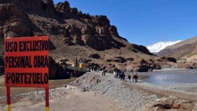 Portezuelo: instalan un puente y siguen con los estudios ambientales