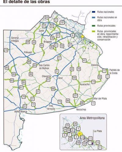 La Provincia repavimentará este año unos 900 kilómetros de rutas