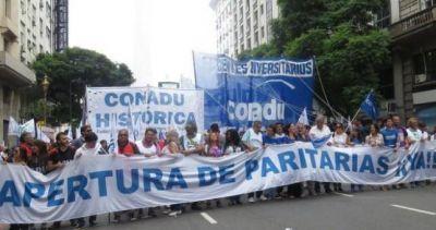 Marcha Federal Universitaria para visibilizar el otro conflicto docente