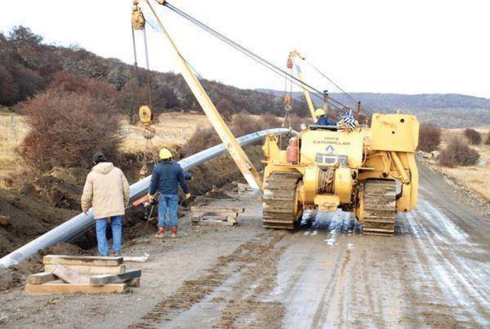 La UOCRA paraliza la obra del gasoducto fueguino