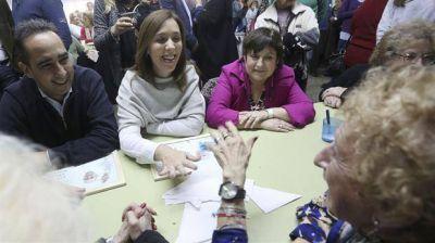 Vidal se mostró con Ocaña en un centro de jubilados