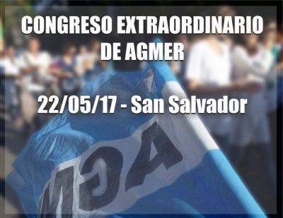 Agmer convocó formalmente a un congreso para el lunes
