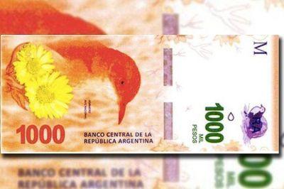 Se adelanta a octubre la salida del billete de 1000 pesos