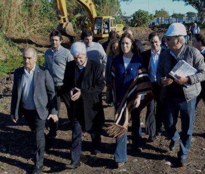 Vidal y Salvador anunciaron el inicio de obras en San Fernando