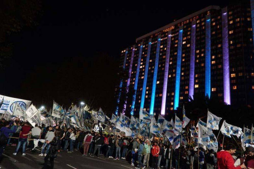 Por la libertad de Milagro Sala: conmovedora marcha de antorchas ante la CIDH
