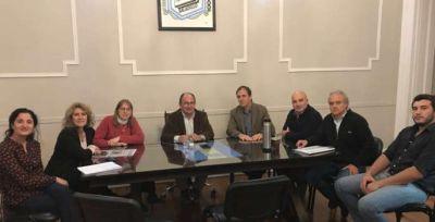 Salomón y Lordén recibieron a concejales y autoridades educativas de Bolívar