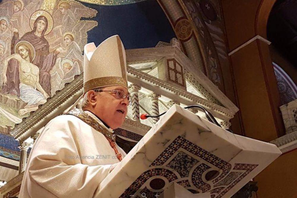 El cardenal Sandri presidió en Roma una misa por el 25 de mayo