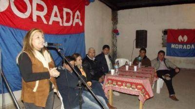 La línea radical MORADA recorrió La Paz y Pomán