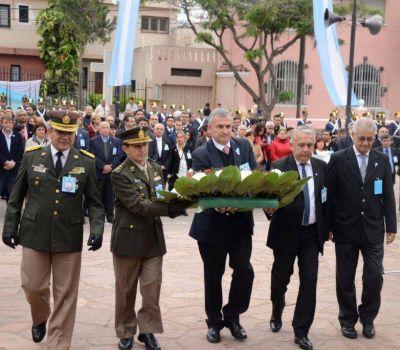 Morales encabezó celebración patria en San Pedro