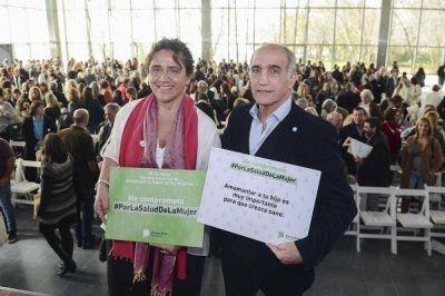 Ortiz destacó la reducción de la mortalidad materna en un evento en Vicente López