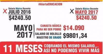 Gremios docentes no descartan nuevas medidas a la espera de una convocatoria; ayer realizaron un campaña de protesta por redes sociales