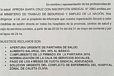 APROSA iniciará paro por 24 horas y pide que se homologuen los acuerdos del 2016