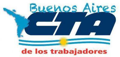 Conferencia de prensa de la CTA de los Trabajadores en la provincia de Buenos Aires