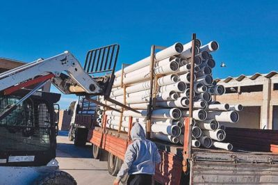 ENOHSA inspeccionó material comprometido para la SCPL tras el temporal
