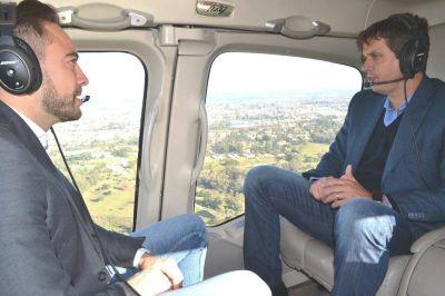 El ministro Urribarri y el intendente Cresto sobrevolaron las zonas inundadas de Concordia