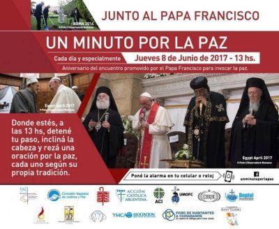 Un minuto por la Paz junto al Papa Francisco