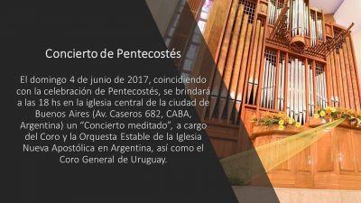 Concierto meditado de Pentecostés
