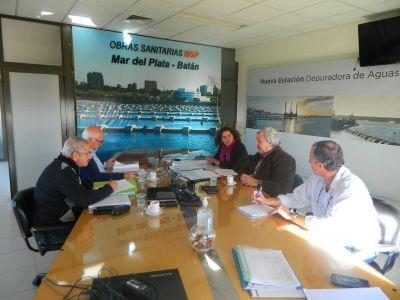OSSE acordó con Infraestructura de la Provincia obras en La Tapera para ampliar su capacidad hidráulica