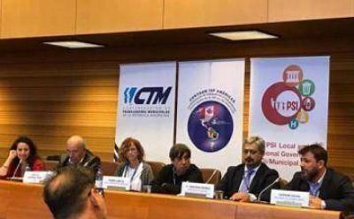 Municipales presentaron en la OIT los avances de la ley de paritarias bonaerense