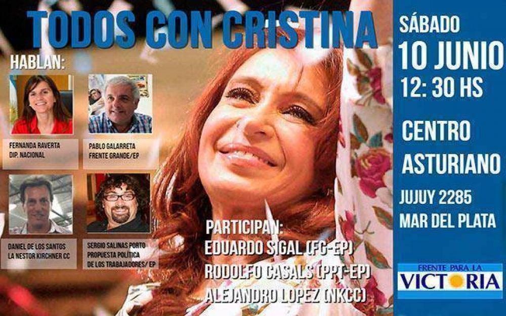 Sectores kirchneristas marplatenses pedirán la candidatura de Cristina
