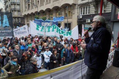 Marcha del gremio de prensa para reclamar por condiciones laborales y salarios