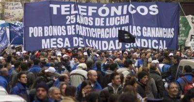 Telefónicos lograron aval del FpV en el Senado para que sea ley la participación en las ganancias